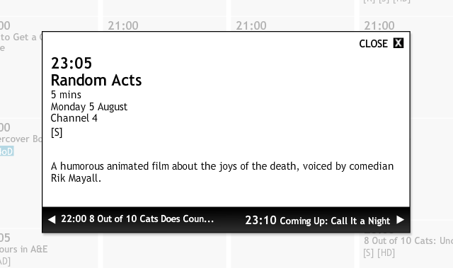 Channel 4 TV Listing