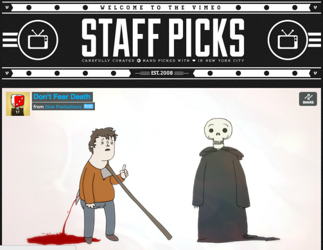 Don't Fear Death Vimeo Staff Pick